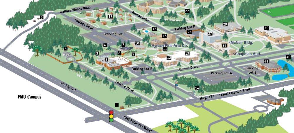 Francis Marion University Maps Fmu Map
