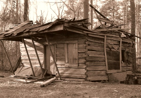 Hewn timber houses ms catherine s house after hurricane for Catherines house